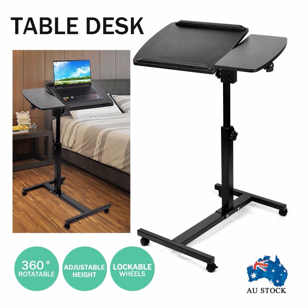 Réglable ordinateur portable bureau 360 ° rotatif ordinateur chevet ordinateur PC Table peut être levé bureau debout 60x40x60-98 cm