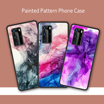 Painted Art Ink Anti-Fall Shockproof Case for Huawei P30 Pro P40 Lite Case for Huawei Nova 5T P20 Pro Luxury Soft Cover image