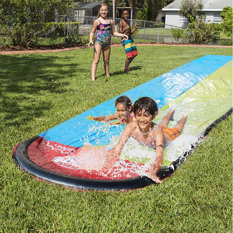 New Cool Giant Double Water Slide Inflatable Playground Slide Summer Backyard Pool Outdoor Games Toys Swimmingpool Accessories Surfing Aliexpress