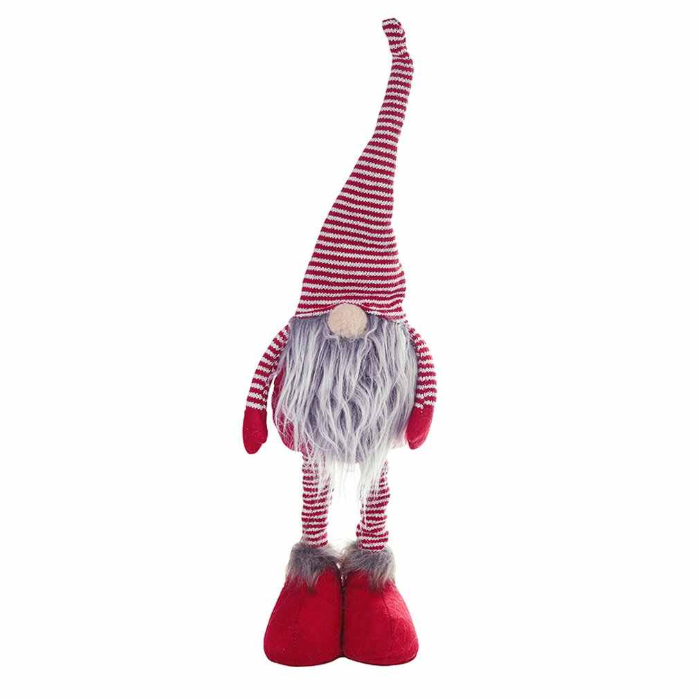 Christmas decoration Standing stripe cap no face doll scene layout home decoration decoration room decoration