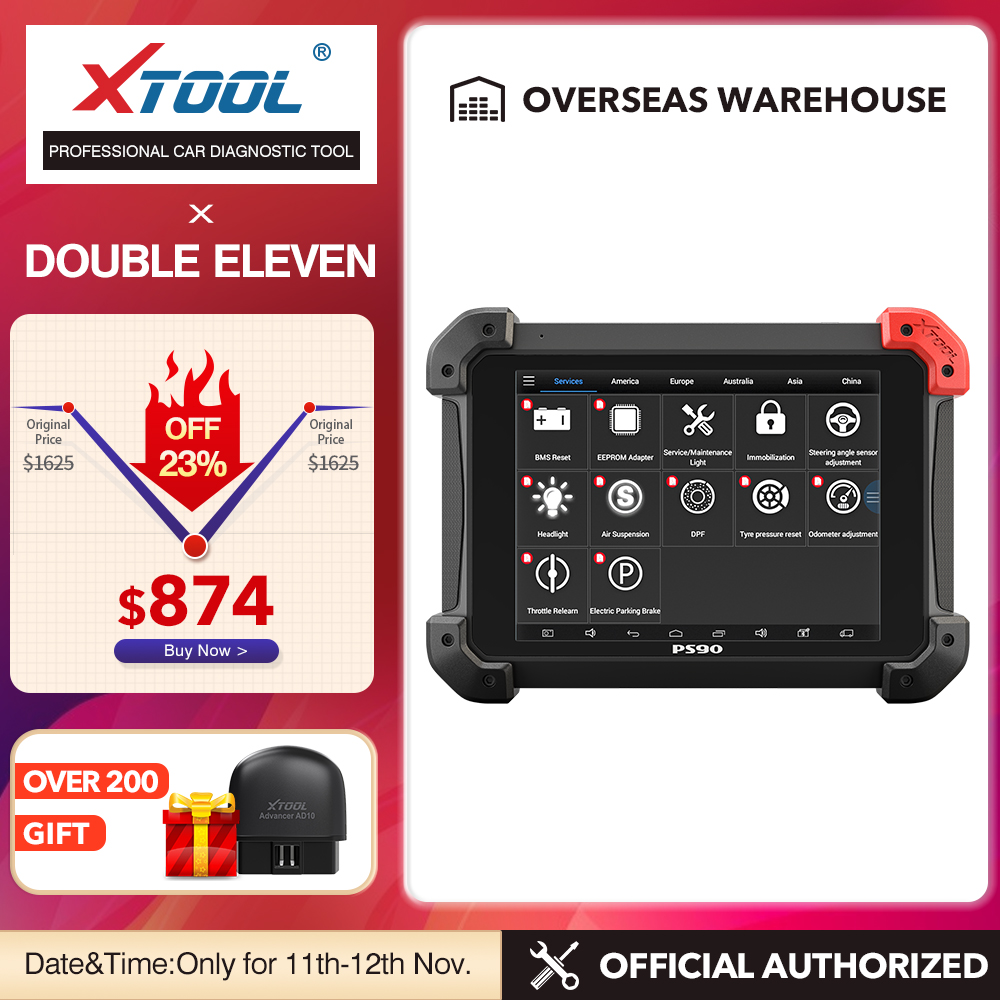 XTOOL PS90 Automotive OBD2 Car Diagnostic tool With Key Programmer Odometer Correctio EPS Support Multi Car models With Wifi BT