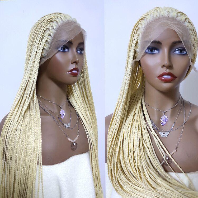 Parte do meio longo trançado perucas sintéticas
