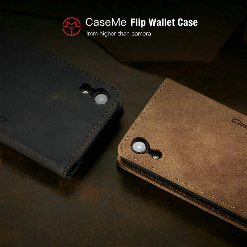 CaseMe Retro Leather Purse Case For iPhone 11 Pro X XR XS Max Luxury Magneti Card