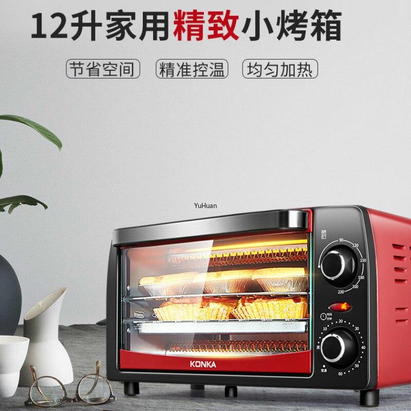 Machine de cuisson à la maison Mini petit four entièrement automatique l 12-L multi-usages grille-pain four four à Pizza