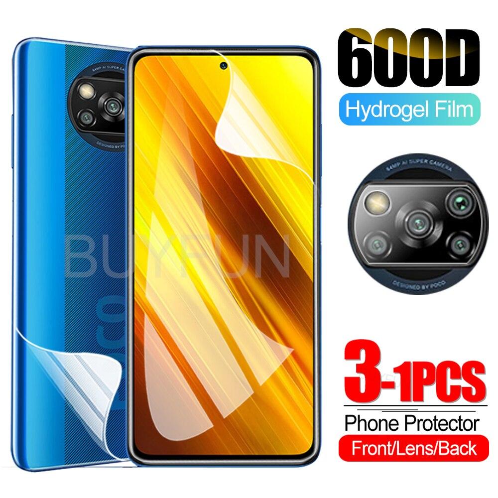 Poco X3 Гидрогелевая пленка для объектива камеры Защитное стекло для Xiaomi Poco X3 x 3 Nfc глобальная версия на pocox3 6,67 ''пленка не стекло