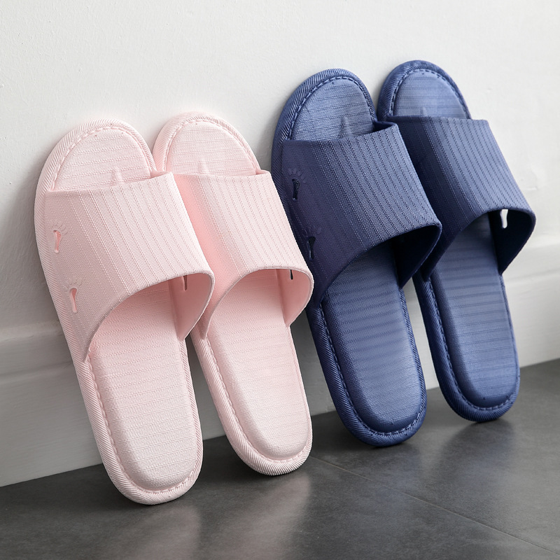 Unisex Indoor Men's Korean Bathroom Slippers Summer PVC Home Shoes Men Bathroom Sandals Couple Home Y9Y0014