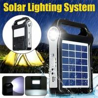 휴대용 태양 전지 패널 생성기 시스템 usb 포트 조명 램프 k888 내장 태양광 램프 등 & 조명 -