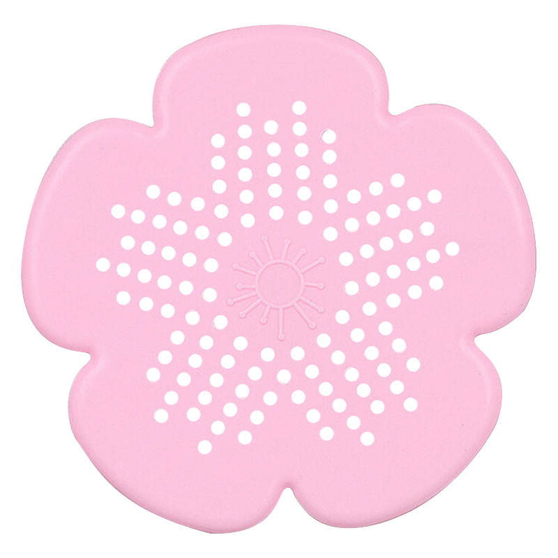 Cherry Blossom Sewer Drainage Filter Bathroom Sink Kitchen Plug Anti-blocking Sewage Covers Floor Covering Hair Filter