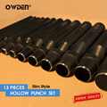 OWDEN 13Pcs Leather Hollow Hole Punch Set Tools 1-12mm Sharp Cuttiing Puncher
