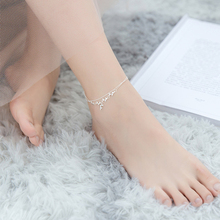 Anklet Sandals Leg-Chain Bead Foot-Jewelry 925-Sterling-Silver Girl Women for Branches
