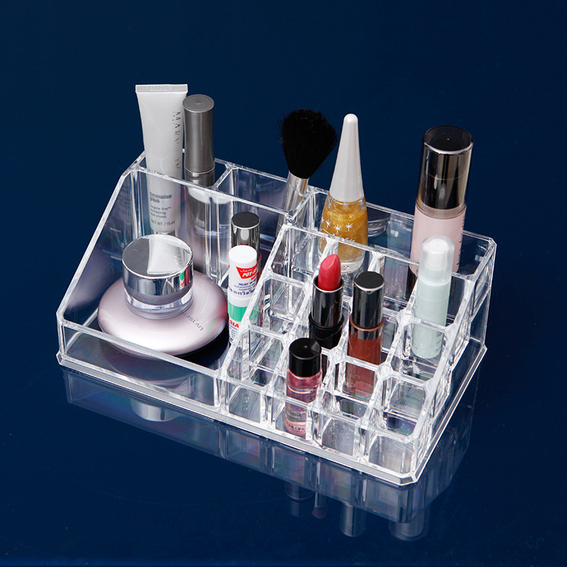 Home Decor Storage Tools Makeup Brush Storage Box Make Up Brush Cosmetic Eyebrow Pencil Transparent Acrylic Desktop Organ