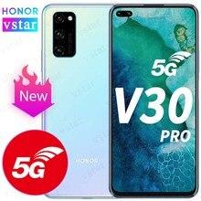 Honra original ver 30 pro honra v30 pro smartphone 5g versão 6.57 polegada kirin 990 5g soc octa núcleo android 10 nfc