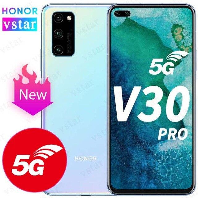 Original HONOR Ansicht 30 Pro Ehre V30 Pro SmartPhone 5G Version 6,57 zoll Kirin 990 5G SOC Octa core Android 10 NFC