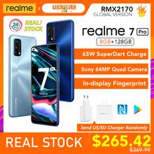 Realme 7 Pro wersja globalna 8GB RAM 128GB ROM 65W SuperDart Charge 64MP Quad Camera AMOLED In-display odcisk palca tanie tanio Niewymienna CN (pochodzenie) Android Rozpoznawanie odcisków palców w ekranie ≈64MP 4500 SuperCharge english Rosyjski