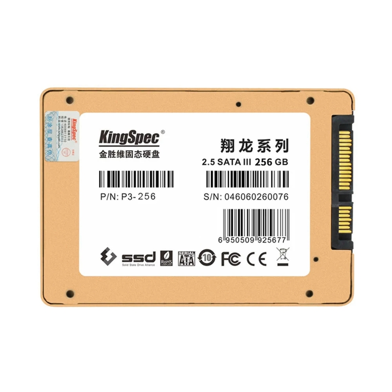 KingSpec P3-256 SATA III 3.0 2.5 inch 3D MLC Digital SSD Solid State Drive for Computer PC Laptop Desktop image