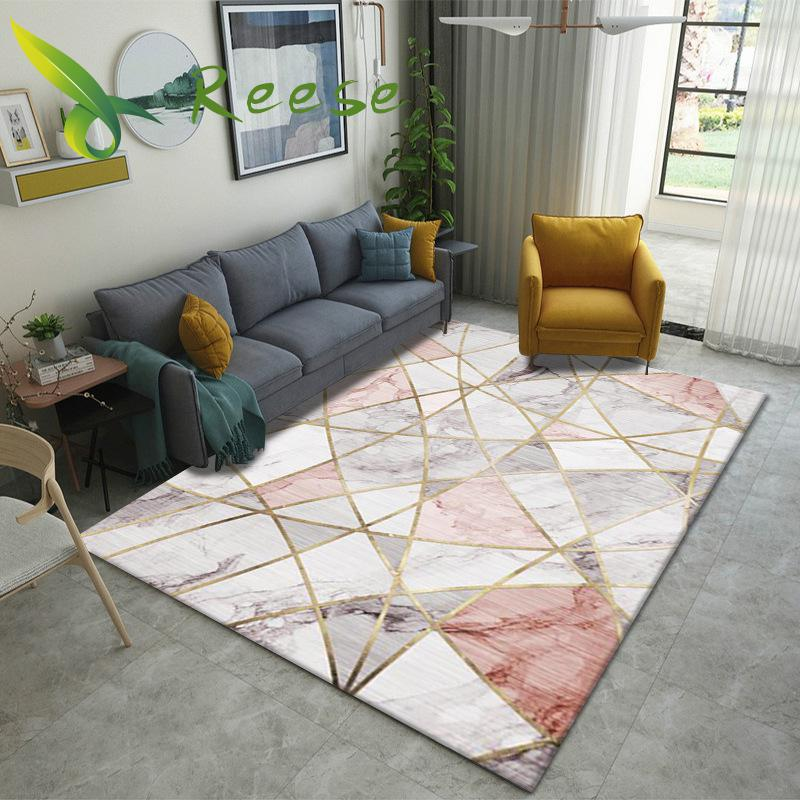 New Style Geometric Floral Decoration Colorful Carpet Rug Living Room Wood Floor Non-slip Antifouling Carpet For Bedroom Parlor