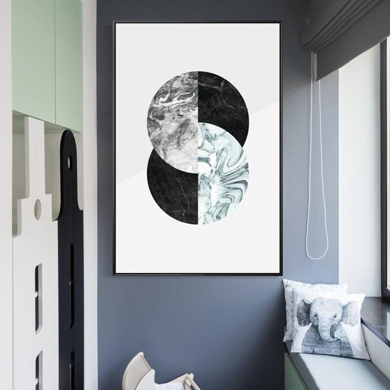 Geometrische Postmodernen ölgemälde handgemalte moderne kunst leinwand malerei für wohnzimmer wand - 3