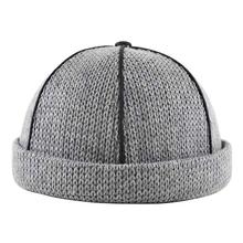 Unisex Men Women Knitted Hat Warm Beanie Skullcap Sailor Cap Cuff Brimless Retro Navy Style Beanie Hats