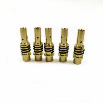 15AK dysza gazowa uchwyt z dyszy wiosna dla MIG spawarka MAG styk posiadacz MB 15AK pistolet spawalniczy tanie i dobre opinie MB 15AK MIG MAG Welding Torch 15AK Tip Nozzle Holder Brass M8 M6 5pcs