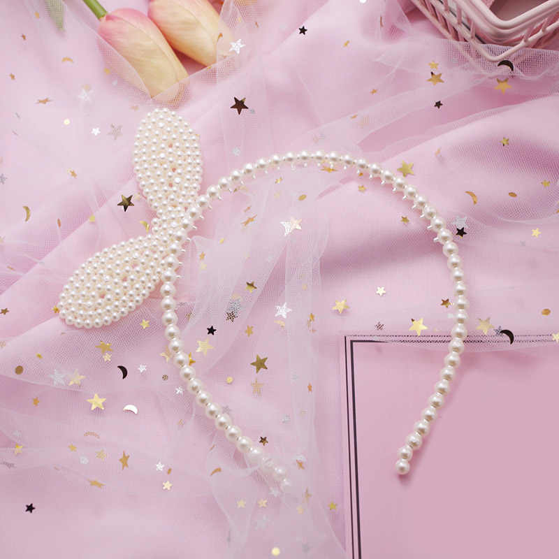 kids Pearl  cat ears head bands fashion Lady Girl Hairband SexySelf Headband Girl birthday party Hair Accessories for Women hoop