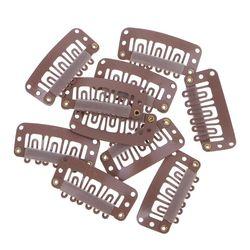 10 шт., заколки для наращивания волос коричневого, черного, блонд, 32 мм, инструменты для укладки, аксессуары