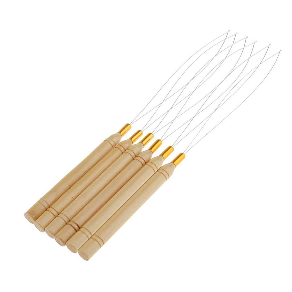 Threader Wire Pulling Hook Tool Used For Hair Human Hair Feather Extension Hair Extensions Loop Micro Rings Links Beads Needle