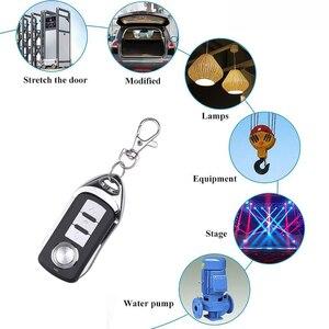 Image 3 - Garage Gate Door 433MHZ Remote Control Key Ring Auto Pair Copy Remote Garage Door Opener Remote Controller Duplicator Universal