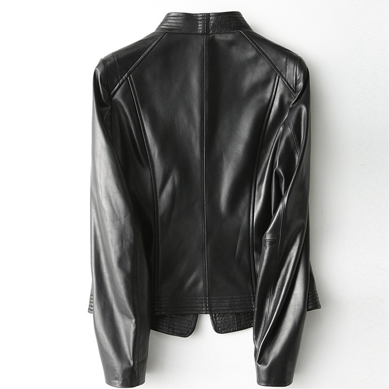 Genuine Leather Jacket Women Montone Jacket Real Sheepskin Coat Female Spring Autumn Slim Short Outwear Clothes LWL1448