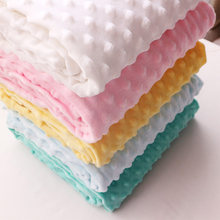 50x160cm Super Soft Minky Dot Fabric Handwork Sewing Blanket Toys Material Antipilling Eco-friendly Plush Fabric