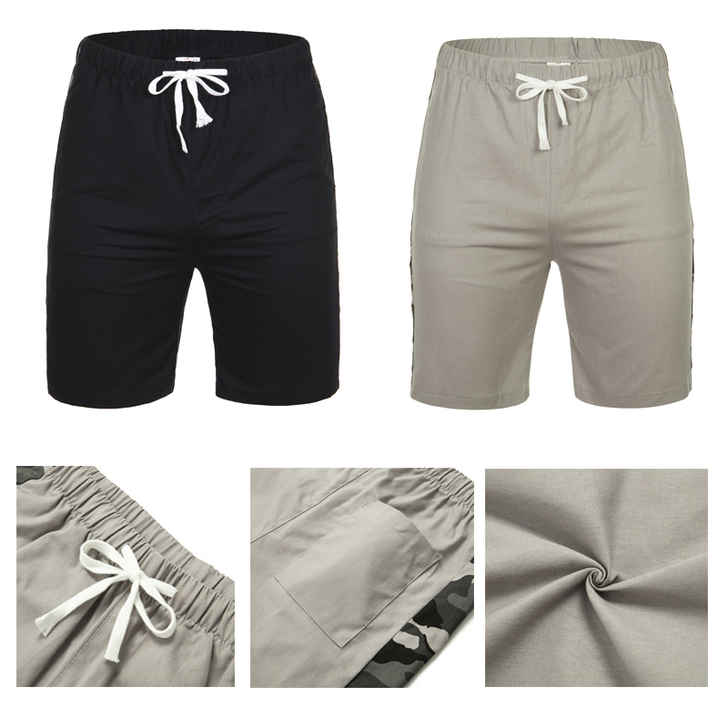 2019 Men's Shorts New Casual Men's Loose Beach Pants Summer Fashion Style Wild Pants Black Grey Elastic Band 2019 New Large Size