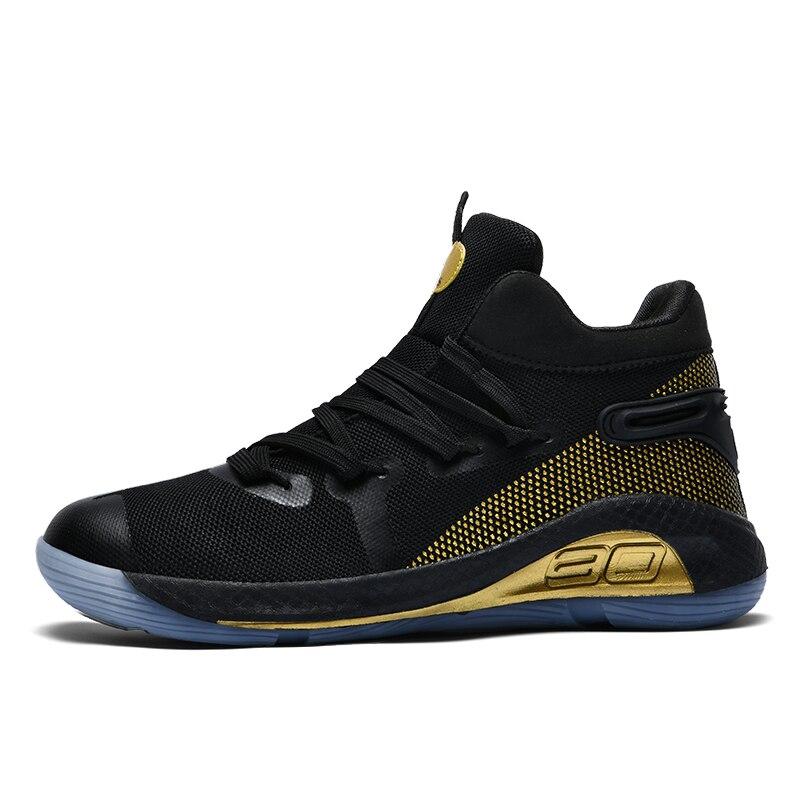 Image 2 - JUNSRM バスケットボールスニーカー男性ブランドカジュアルカップルの靴 Zapatos デやつ男性の保護足首ジョギング非スリップトレーナー男性メンズカジュアルシューズ   -