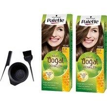 Палитра натуральных краски для волос Schwarzkopf 6,0 Dark Auburn 50 мл x 2 шт. + набор для рисования
