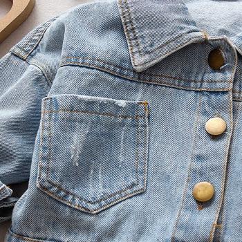 Denim Jacket Children Kids Fashion Cowboy Coat Leisure Clothes For Boys Girls Autumn Winter Outerwear Baby Casual Jean Coats 3