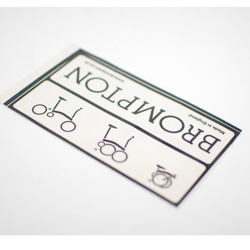 Frame decal sticker logo for Brompton