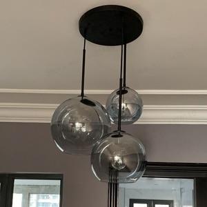Image 5 - Blubble現代ペンダントライトシルバーゴールド勾配ガラス玉ぶら下げランプhanglampキッチン照明器具ダイニングリビングルーム