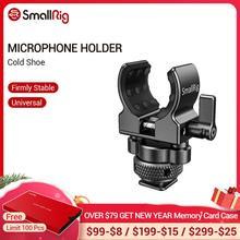 Petit support de Microphone de Cage dappareil photo de DSLR (chaussure froide) avec le support à pince de choc de Microphone de diamètre de 19 25mm 2352