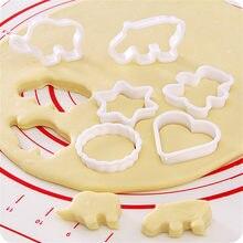 Moules à gâteaux en plastique, biscuits, sucrier, dessin animé, animaux, ananas, coupe-biscuits, moule de cuisine, 6 pièces
