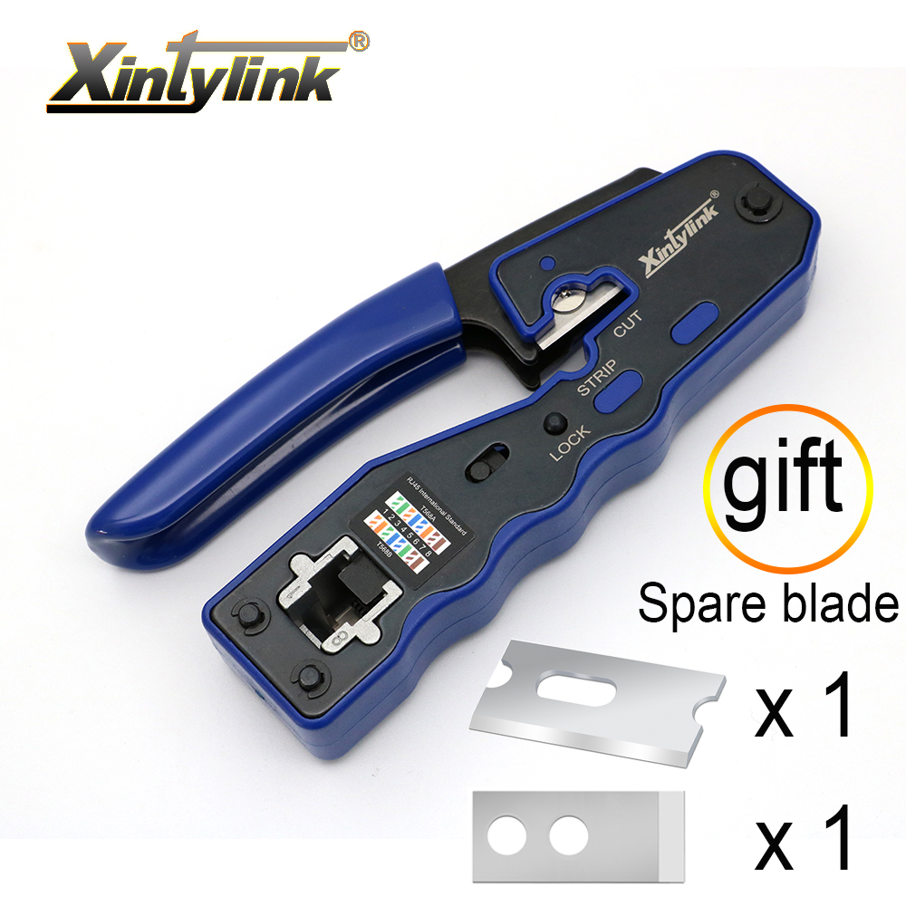 xintylink EZ rj45 crimper hand network tools pliers cat5 cat6 8p rj 45 cable Stripper pressing clamp tongs clip new style type