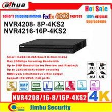 Dahua NVR 4K H.265 POEเครื่องบันทึกวิดีโอNVR4208 8P 4KS2 NVR4216 16P 4KS2 8พอร์ตPOE 8CH 16CHได้ถึง8MPความละเอียดEASY4IP DVR