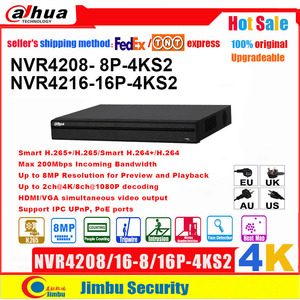 Image 1 - داهوا NVR 4K H.265 POE مسجل فيديو NVR4208 8P 4KS2 NVR4216 16P 4KS2 8 POE ميناء 8CH 16CH يصل إلى 8MP قرار EASY4IP DVR