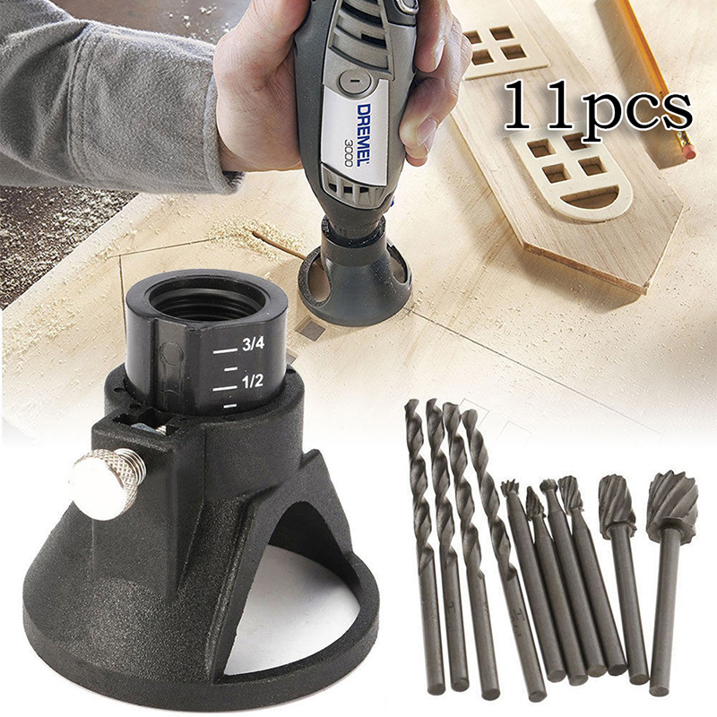 HSS Routing Router Drill Bits Set Dremel Carbide Rotary Burrs Tools Wood Stone Metal Root Carving Milling Cutter