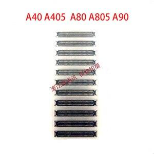 Для Samsung Galaxy A40 A80 A90 A405 A805, материнская плата, соединительная штепсельная вилка, маленькая пластина, встроенный разъем кнопки сиденья