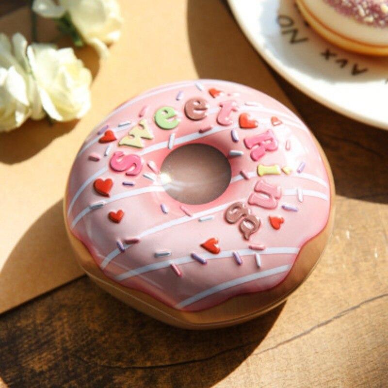 Souvenir Candy-Box Bonbonniere Tinplate-Craft Party-Decoration Wedding Sweet Donut