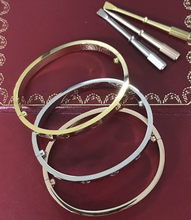 Classic 316L Titanium Steel carter love Screw Bangles Silver Gold Rose Gold couple wedding Bracelet Bangle screwdriver wholesale(China)