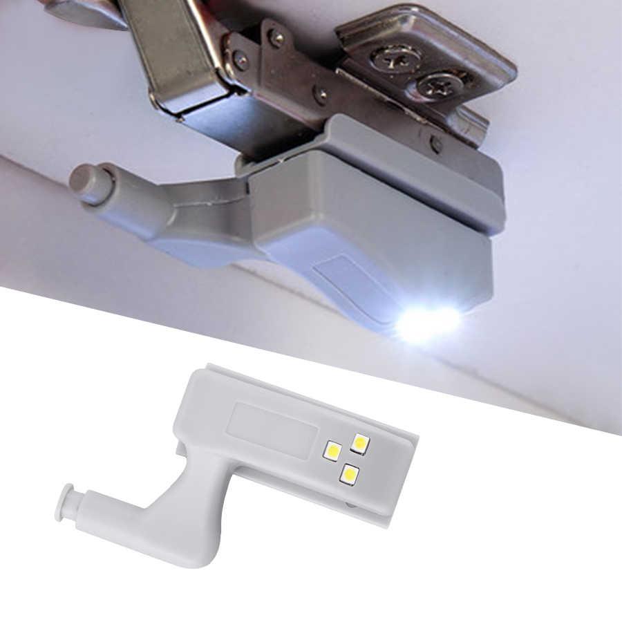 Cabinet Closet Wardrobe Cupboard Hinge Sensor Night LED Light Battery Powered