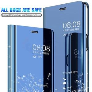 Mirror Smart Flip Phone Case For Xiaomi Redmi Note 7 Cover Cases Redmi Note 7 Pro Note7 Note7Pro Standing Case
