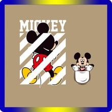 Детские нашивки с изображением Микки из мультфильма, железные нашивки для одежды, термопереводные виниловые наклейки для детей, одежда для девочек, наклейки для глажки
