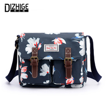 DIZHIGE Brand Fashion Canvas Women Bags High Quality Crossbody For Luxury Multi-pocket Printed Shoulder Female