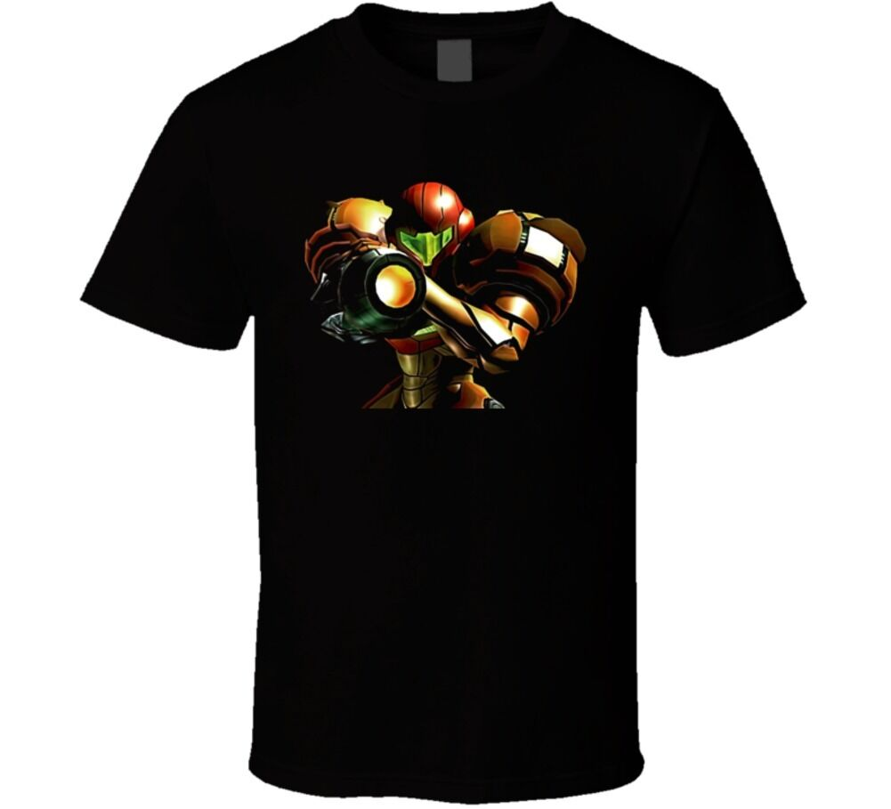 Metroid Nintendo Video Game Classic T Shirt Short Sleeve Tee Shirt Free Shipping cheap wholesale image