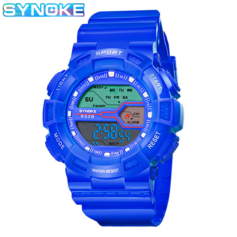 SYNOKE Watch For Kids Children Kids Watches Waterproof Light Alarm Clock Luminous Day Display Function Sports Student Watches